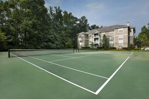 Tennis Court at Camden Peachtree City Apartments in Peachtree City, GA