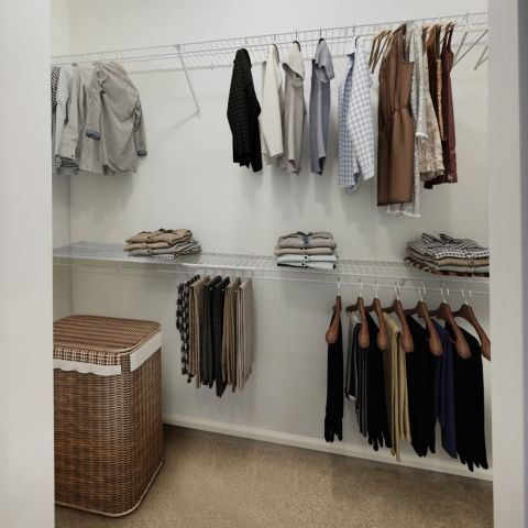 Walk-in Closet at Camden Peachtree City Apartments in Peachtree City, GA