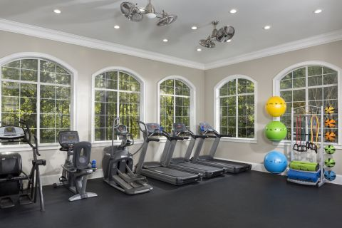 Fitness Center at Camden Peachtree City Apartments in Peachtree City, GA