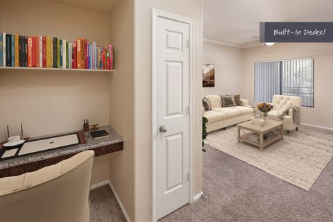 Built in Office Nook at Camden Pecos Ranch Apartments in Chandler, AZ