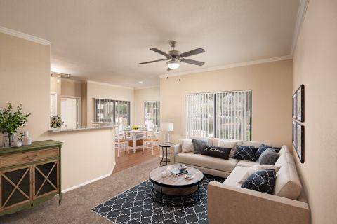 Living Room and Dining Area at Camden Pecos Ranch Apartments in Chandler, AZ