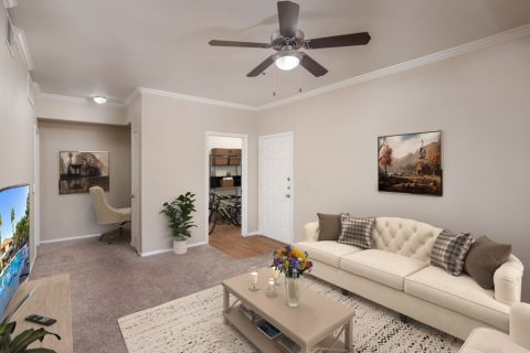 Living Room at Camden Pecos Ranch Apartments in Chandler, AZ