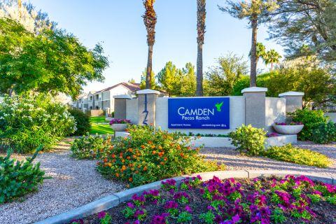 Exterior Entrance at Camden Pecos Ranch Apartments in Chandler, AZ