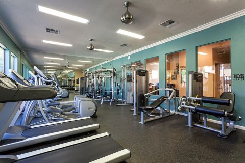 Fitness Center at Camden Pecos Ranch Apartments in Chandler, AZ