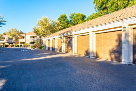 Garages at Camden Pecos Ranch Apartments in Chandler, AZ