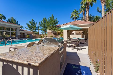 Outdoor BBQ Grills at Camden Pecos Ranch Apartments in Chandler, AZ