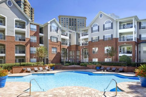 Pool with Sundeck at Camden Phipps Apartments in Atlanta, GA