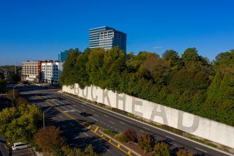 Buckhead Wall near Camden Phipps Apartments in Atlanta, GA