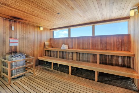 Spa House Sauna at Camden Pier District Apartments in St. Petersburg, FL
