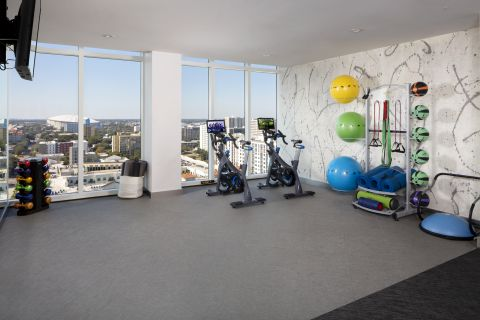 Yoga and Spin Studio at Camden Pier District Apartments in St. Petersburg, FL