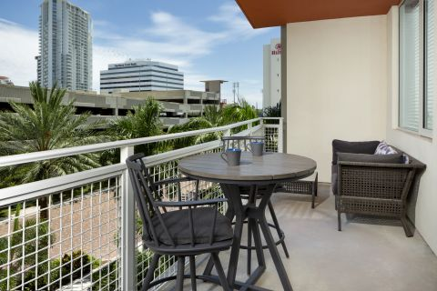 Balcony at Camden Pier District Apartments in St. Petersburg, FL