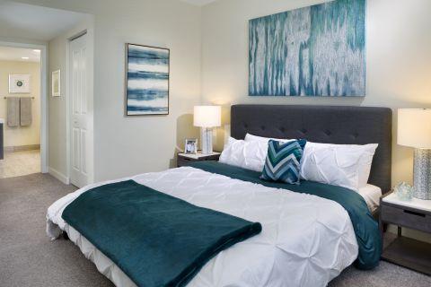 Bedroom at Camden Pier District Apartments in St. Petersburg, FL