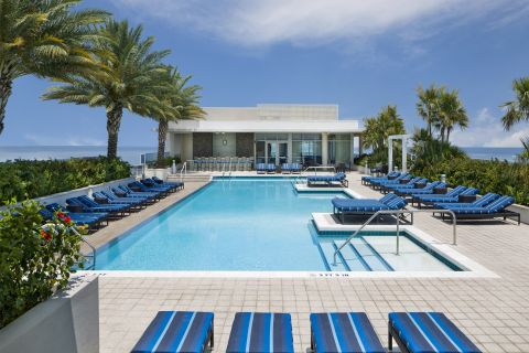 Olympic-size Pool at Camden Pier District Apartments in St. Petersburg, FL