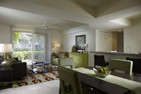 Living Room at Camden Plantation Apartments in Plantation, FL