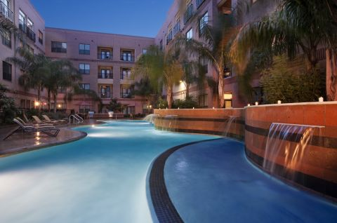 Resort-style Pool at Camden Plaza Apartments in Houston, TX