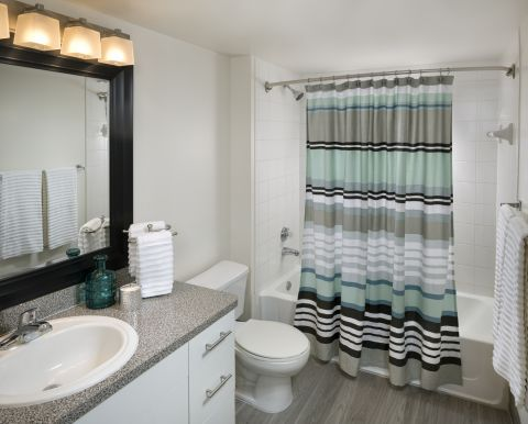 Bathroom at Camden Portofino Apartments in Pembroke Pines, FL