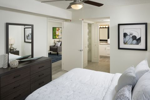 Bedroom at Camden Portofino Apartments in Pembroke Pines, FL