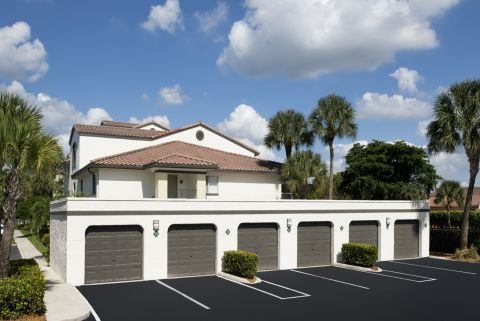 Garages at Camden Portofino Apartments in Pembroke Pines, FL