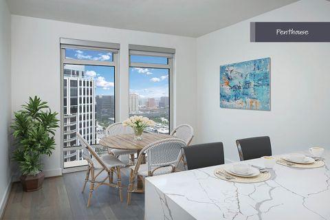 Penthouse Breakfast Nook at Camden Post Oak Apartments in Houston, TX