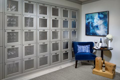 Temperature-controlled Wine Storage Room at Camden Post Oak Apartments in Houston, TX