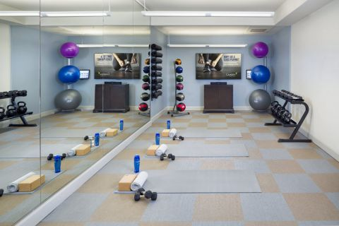 Yoga Studio with On-Demand Virtual Trainer at Camden Post Oak Apartments in Houston, TX