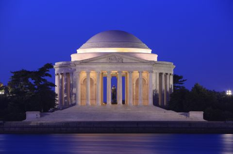 Jefferson Memorial near Camden Potomac Yard Apartments in Arlington, VA