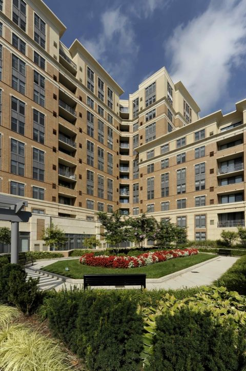 Courtyard at Camden Potomac Yard Apartments in Arlington, VA