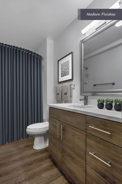 Modern Bathroom at Camden Potomac Yard Apartments in Arlington, VA
