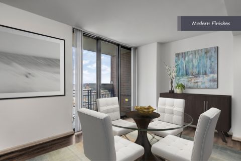 Modern Dining Area at Camden Potomac Yard Apartments in Arlington, VA