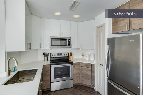 Modern kitchen at Camden Potomac Yard Apartments in Arlington, VA