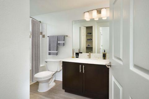 Bathroom at Camden Preserve Apartments in Tampa, FL