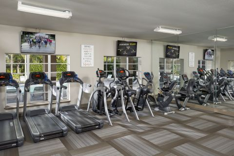 Gym at Camden Preserve Apartments in Tampa, FL