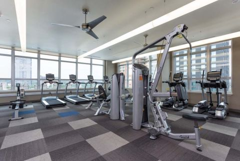 Camden Rainey Street apartments in Austin, TX Fitness Center with Cardio