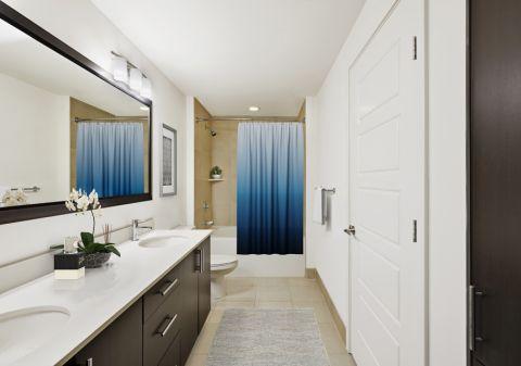 1BR Bathroom at Camden Rainey Street apartments in Austin, TX