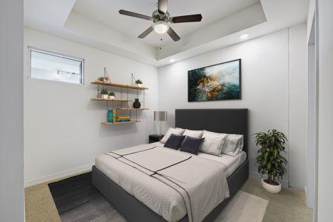 1BR Bedroom at Camden Rainey Street apartments in Austin, TX