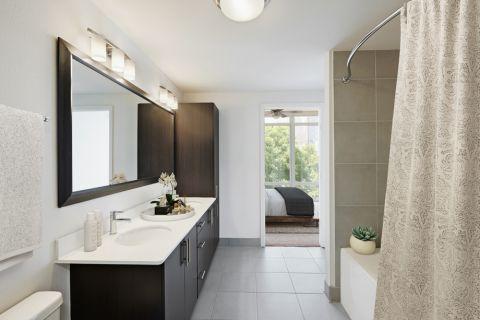 2BR Bathroom at Camden Rainey Street apartments in Austin, TX