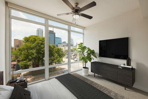 2BR Bedroom at Camden Rainey Street apartments in Austin, TX