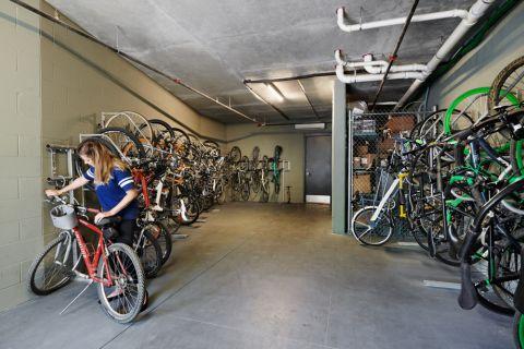 Bike Storage at Camden Rainey Street apartments in Austin, TX