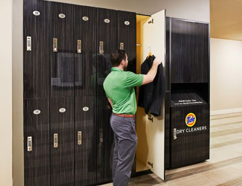 Dry Cleaning Lockers at Camden Rainey Street apartments in Austin, TX