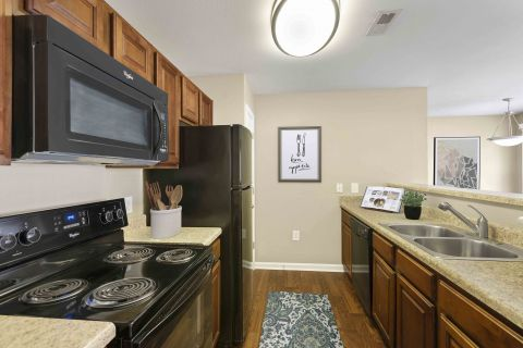 Kitchen at Camden Reunion Park Apartments in Apex, NC