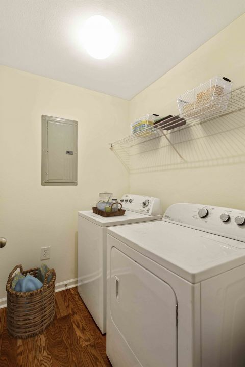 Laundry Room at Camden Reunion Park Apartments in Apex, NC