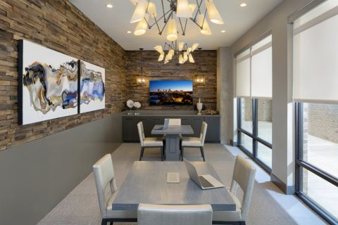 Conference room at Camden RiNo apartments in Denver, CO