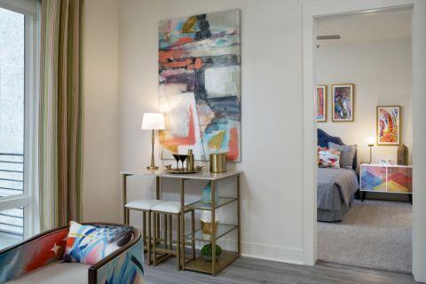 Living room nook at Camden RiNo apartments in Denver, CO