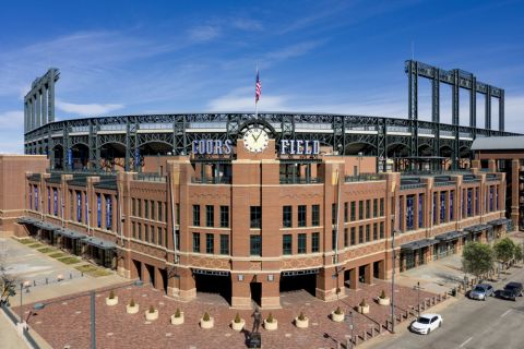 Nearby Coors Field at Camden RiNo apartments in Denver, CO