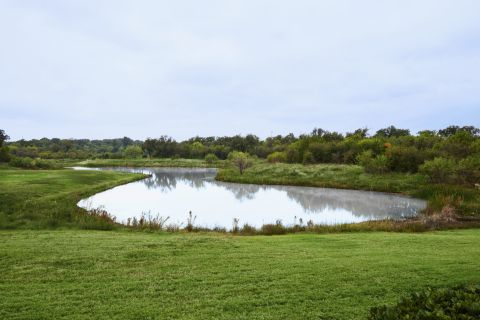 7-acre Fully-stocked Catch-and-Release Fishing Pond at Camden Riverwalk Apartments in Grapevine, TX
