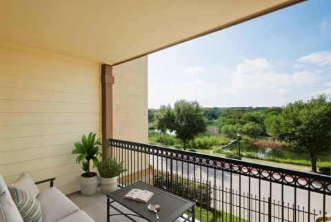 Balcony at Camden Riverwalk Apartments in Grapevine, TX