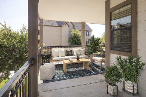 Outdoor Living Space at Camden Riverwalk Apartments in Grapevine, TX