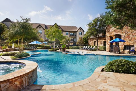 Resort-style Pool at Camden Riverwalk Apartments in Grapevine, TX