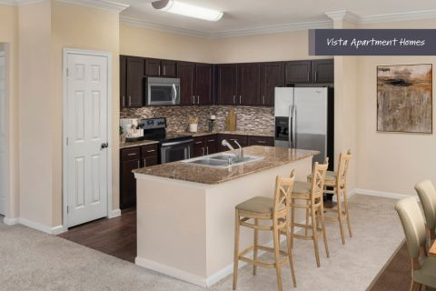 Vista Kitchen at Camden Riverwalk Apartments in Grapevine, TX