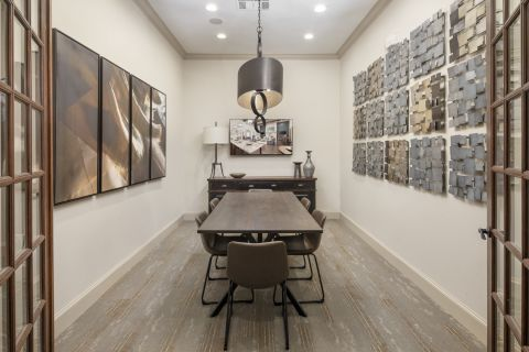 Community Workspace at Camden Riverwalk Apartments in Grapevine, TX